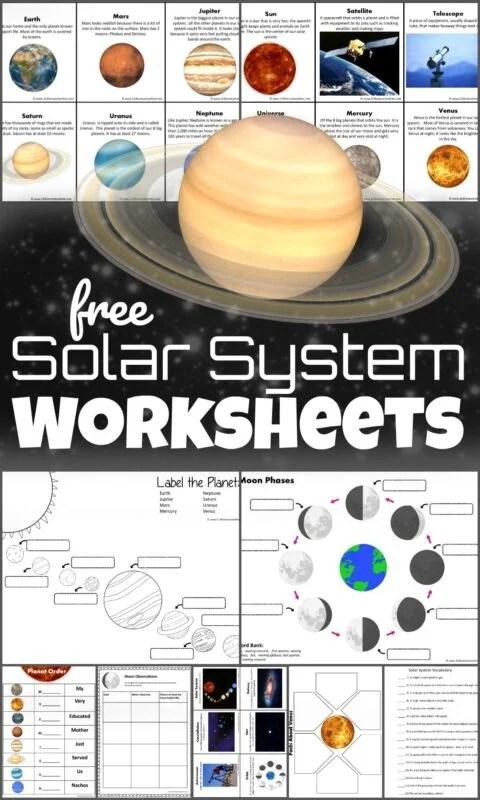 Printable Planet Pictures : printable, planet, pictures, Solar, System, Worksheets