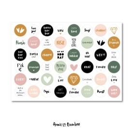 Stickervel 'Invul jaarboek I'