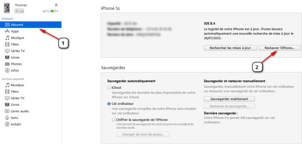 restaurer son iphone sous ios 9.x.x