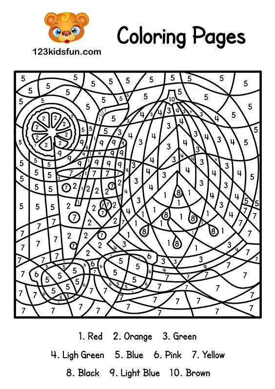 coloring pages by number # 8