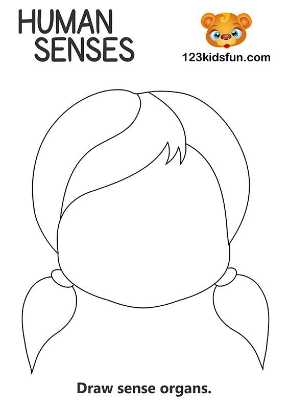 Human Body Printables - 5 Senses
