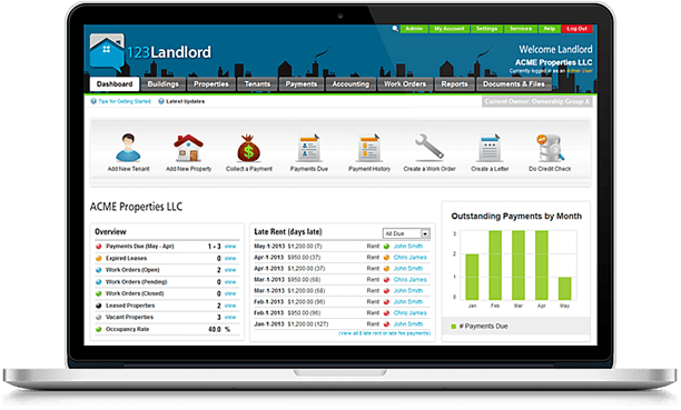 Online Property Management Software  123landlordm