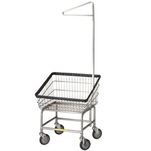 Front Load Laundry Cart w/Single Pole Rack Model Number