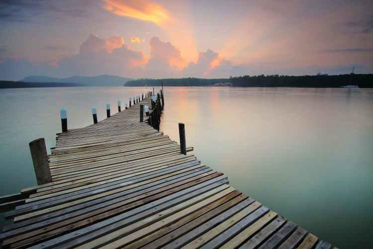 brown dock