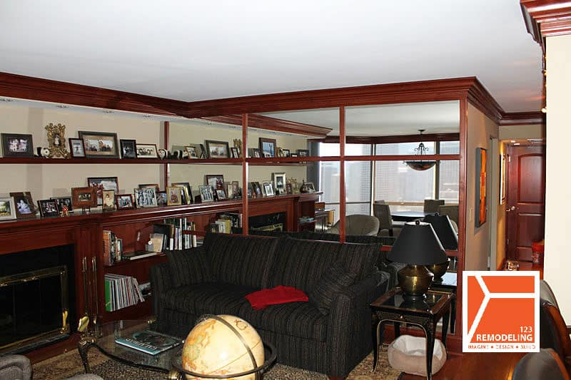 After Condo Living Room Remodel - 1310 N Ritchie Court, Chicago,IL (Gold Coast)
