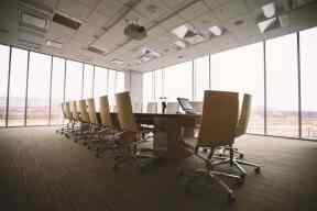 conference room with lots of windows