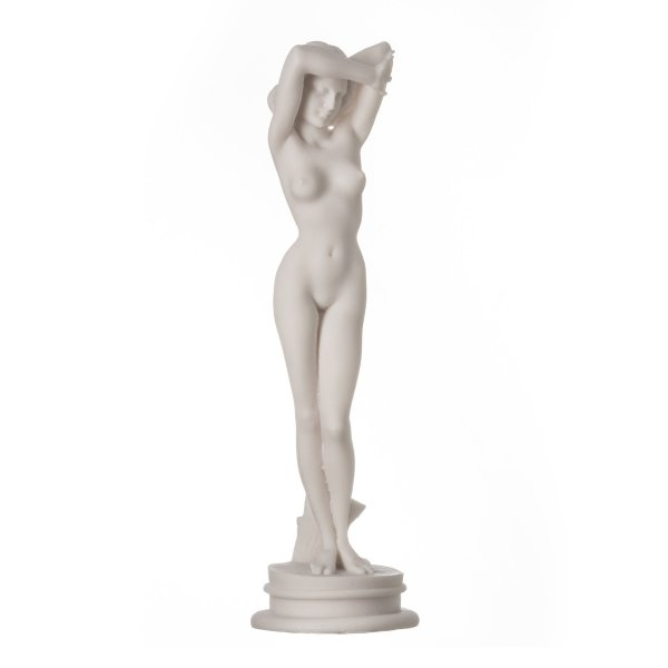 Naked Nude Aphrodite Sexy Statue Female Woman Alabaster Sculpture 9.44″ 24cm