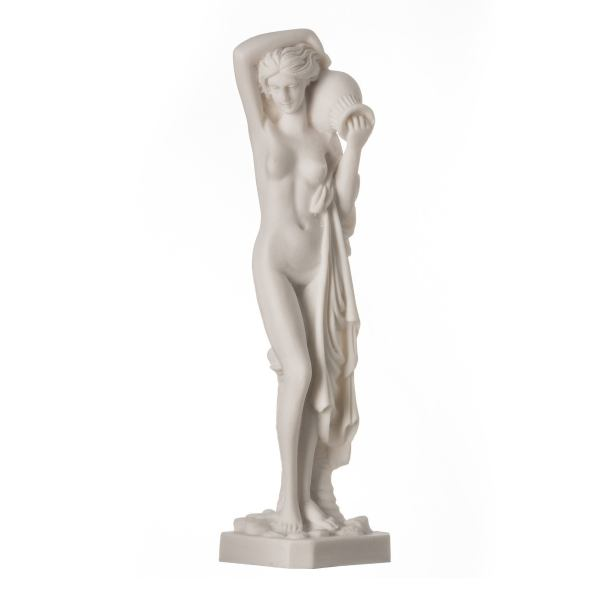 Nude Naked Lady With Water Jug Figure Alabaster Statue Sculpture 9.84″