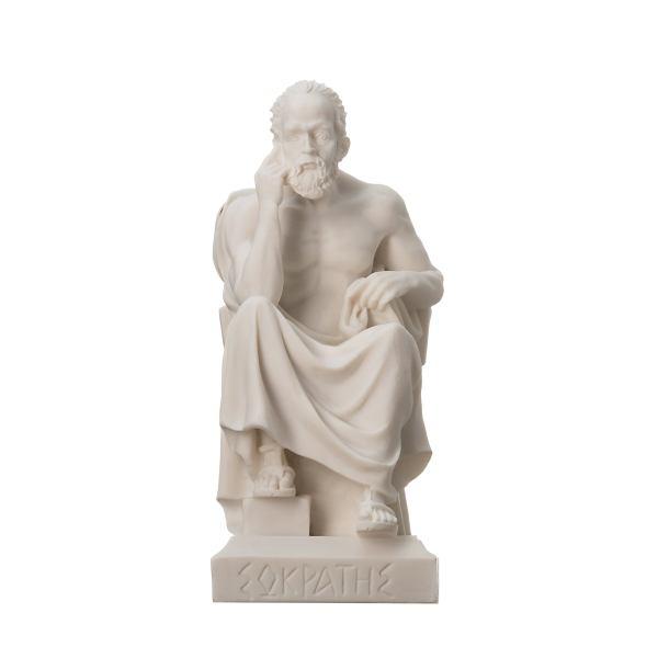 Greek Philosopher SOCRATES Alabaster Statue Sculpture Athens Academy 6.7″