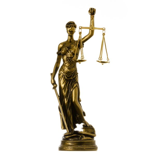 Greek goddess themis statue Bronze colour figurine blind lady justice sculpture lawyer gift 10.23″ 26cm