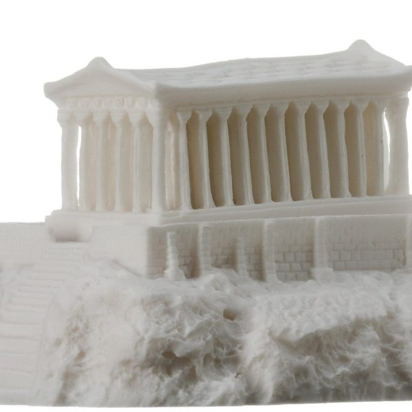 Parthenon Acropolis with night lamp Temple of Goddess Athena Alabaster 6.69″