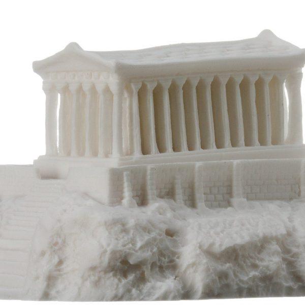 Parthenon Acropolis with night lamp Temple of Goddess Athena Alabaster 6.69″