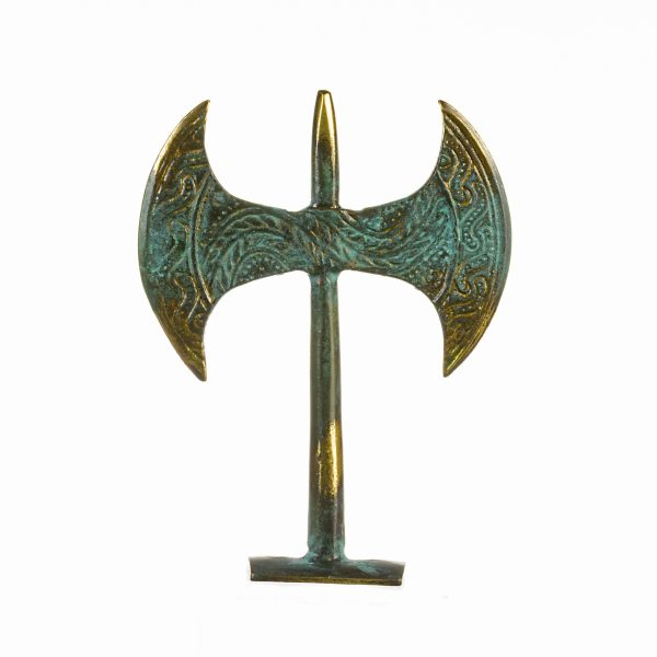 Knossos Labrys Double Axe Double Edge Roman Viking Battle Axe Greece Crete Minoan Souvenir Solid Brass Free Shipping