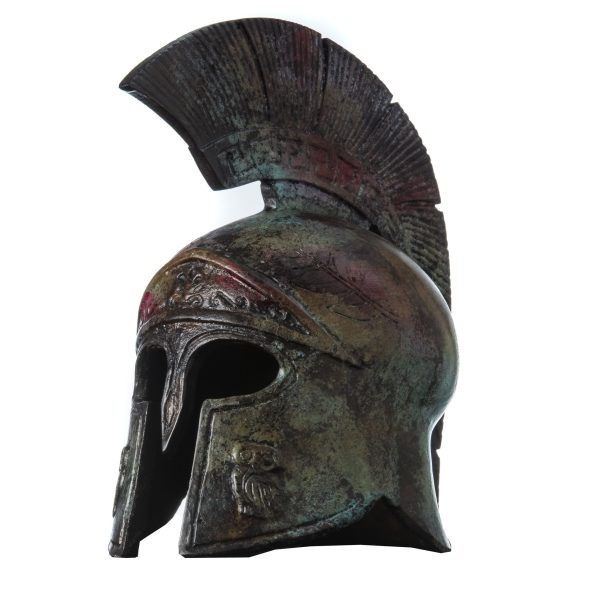 Ancient Greek Helmet Bronze Museum Replica Vintage Athena Battle Collectible 8 ""