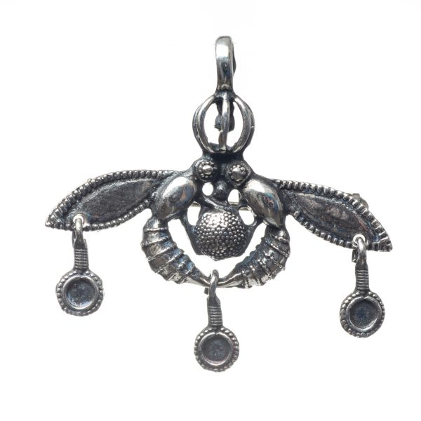 Malia Bees Minoan Cretan Pendant Brooch Silver Sterling 925 Handmade Museum