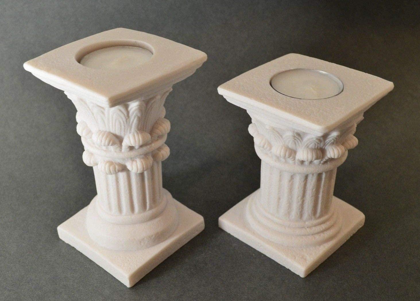 Corinthian Order Candle Set Of 2 Holder Ancient Greek Column Decoration