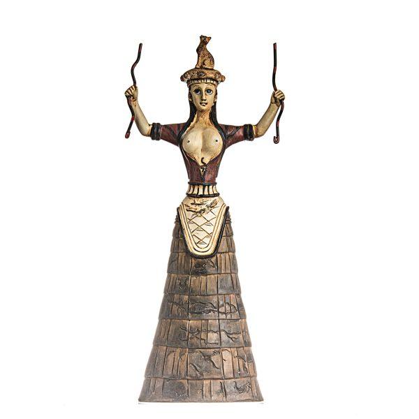 Minoan Snake Goddess Knossos Statue Healer Messenger Priestess Sculpture 11.8″ 30cm