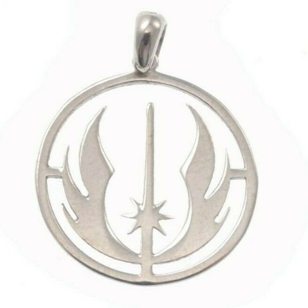 Star Wars Necklace Jedi Pendant Mens Jewellery Mens Necklace Silver Sterling 925