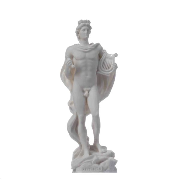 Apollo God Of Music Poetry Art Alabaster Statue Sculpture 6.69″