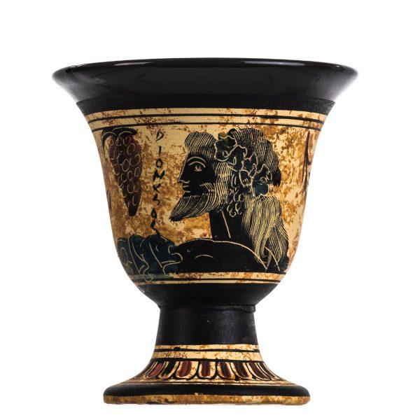 Pythagoras Cup of Justice Pythagorean Fair Mug Ancient Greek God Dionysus Hand Painted Ceramic Usable