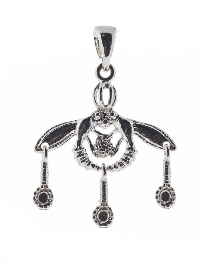 Malia Bees Minoan Cretan Pendant Silver Sterling 925 Handmade 0.98 inches L