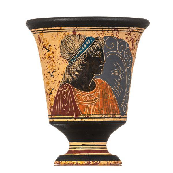 Pythagoras Cup of Justice Pythagorean Fair Mug Ancient Greek Goddess Aphrodite Hand Painted Ceramic
