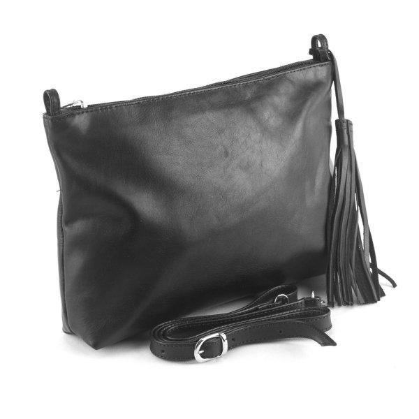Leather Shoulder Bag Handmade Design Black Cross Body Satchel Vintage Saddle Handbag Purse