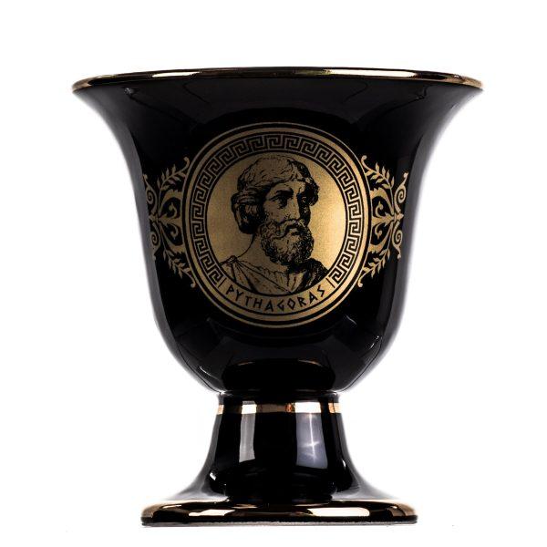 Pythagoras Cup of Justice Pythagorean Theorem Fair Mug Ancient Greece Black Cobalt Usable
