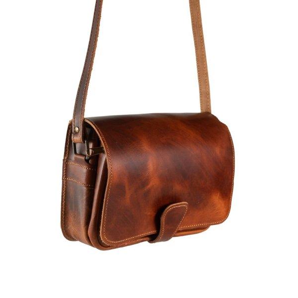 Leather Shoulder Bag Handmade Design Natural Beige Brown Black Cross Body Satchel Vintage Saddle Handbag Purse  M