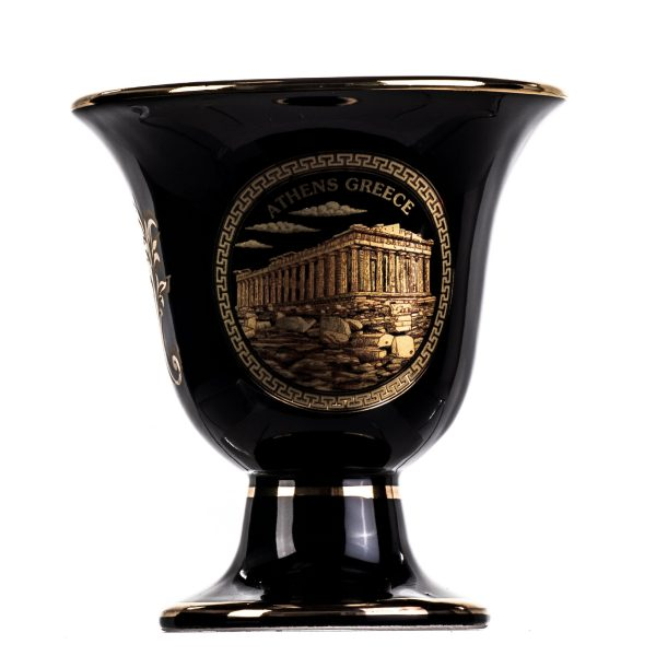 Pythagoras Cup of Justice Acropolis Zeus Pythagorean Fair Mug Ancient Greece Black Cobalt Usable
