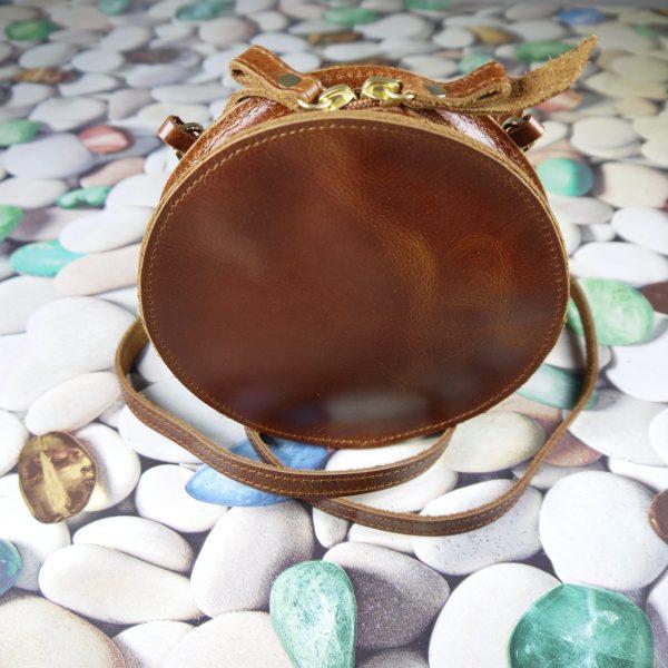 Leather Shoulder Round Bag Natural Tan Beige Brown Black Handmade Cross Body Saddle Vintage Handbag Purse