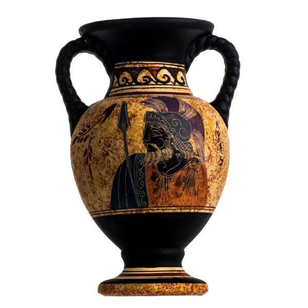 Ancient Greek Minoan Amphora Ares Handmade Pottery Vase Ceramic