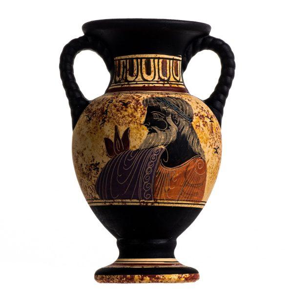 Ancient Greek Minoan Amphora Zeus Handmade Pottery Vase Ceramic