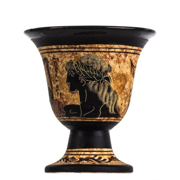 Pythagoras Cup of Justice Pythagorean Fair Mug Ancient Greek God Apollo Hand Painted Ceramic Usable