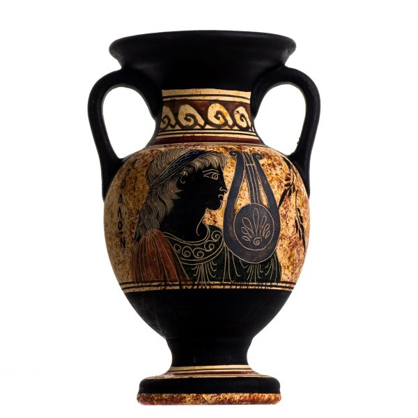 Ancient Greek Minoan Amphora Apollo Handmade Pottery Vase Ceramic