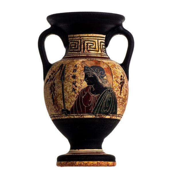 Ancient Greek Minoan Amphora Athena Handmade Pottery Vase Ceramic
