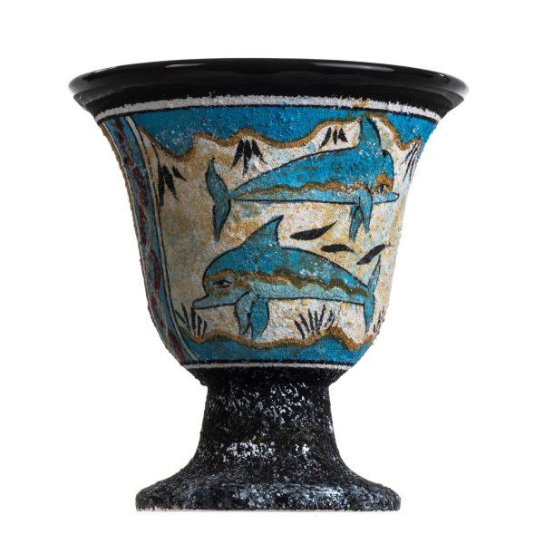 Pythagoras Cup of Justice Pythagorean Fair Mug Ancient Greek Minoan Fresco Mural of Dolphins