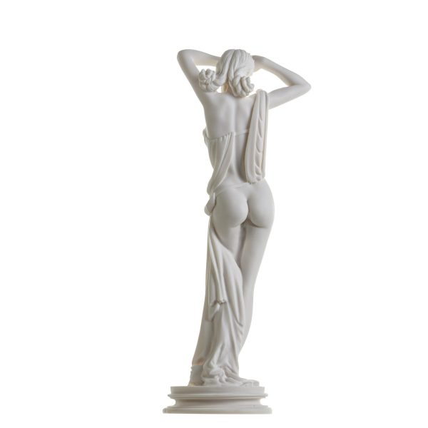 Naked Nude Sexy Female Woman Aphrodite Alabaster Statue Sculpture 16.5 Inches