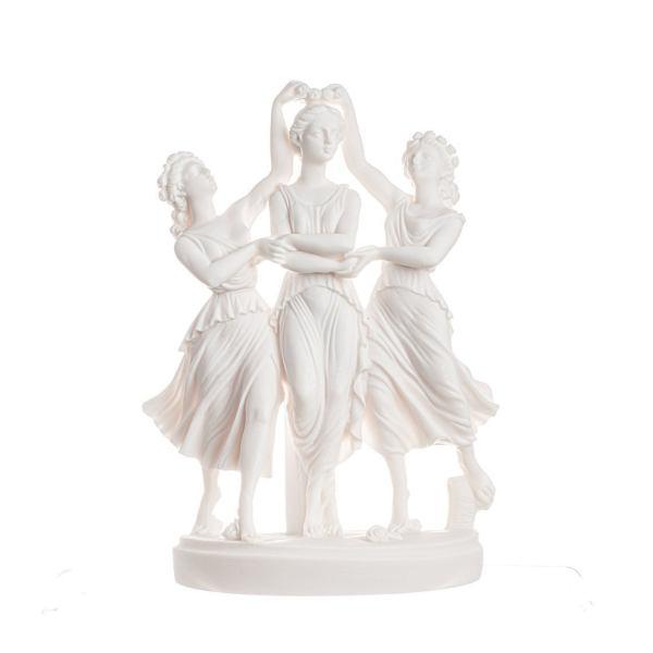 3 Graces Goddesses from Sandro Botticelli's painting Primavera Statue 9.84″
