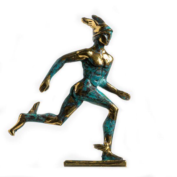 Hermes Mercury God Zeus Son Roman Statue Handmade Solid Bronze 5.6 Inches