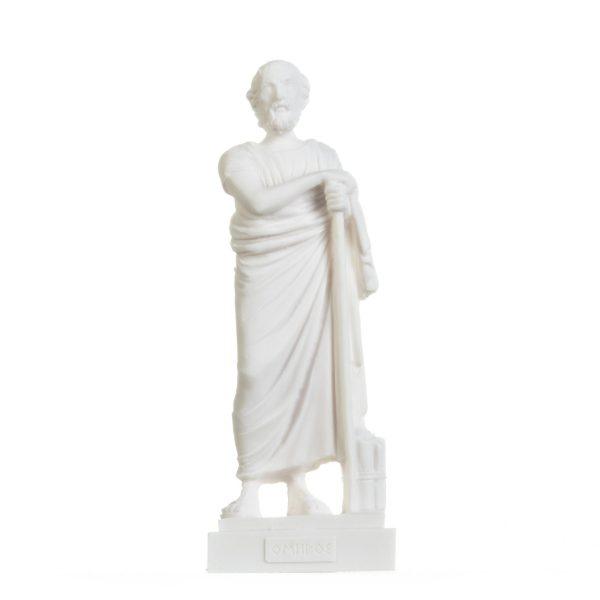 Homer Greek Poet Figurine Ancient Greece Sculpture Alabaster Statue 9.5 Inches