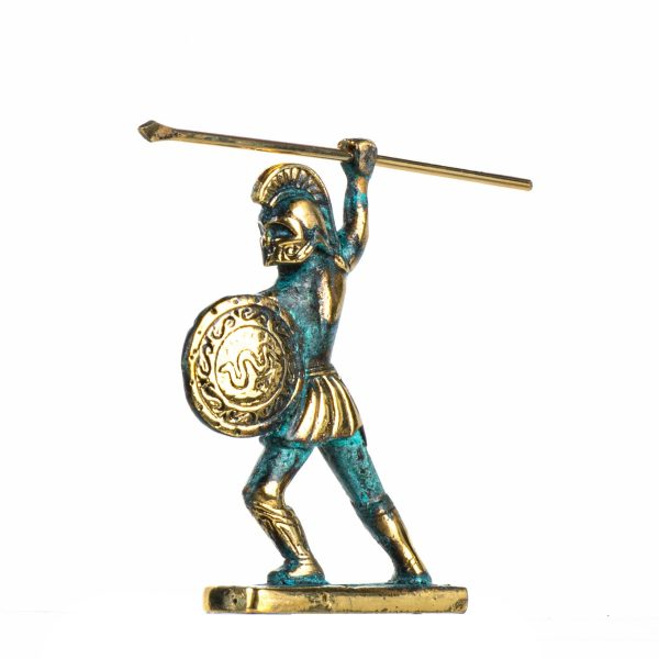 Leonidas Statue Greek Spartan King Sculpture Solid Bronze Figure 4.2 Inches