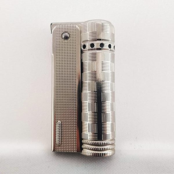 Vintage IMCO Lighter Junior 6600 Made in Austria Silver Squares New Old Stock