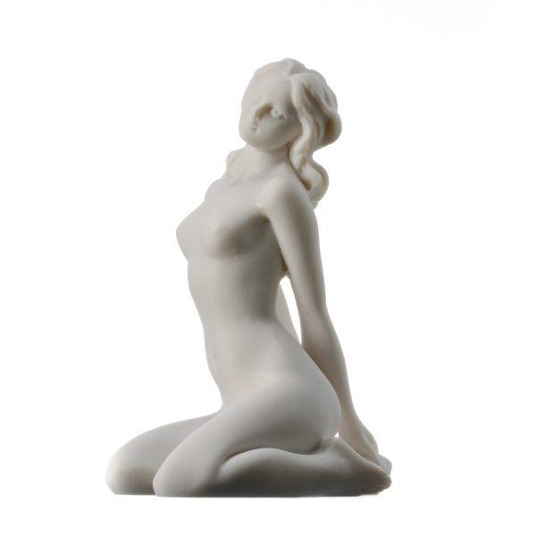 Erotic Nude Statue Naked 'Temptation of Love' Figurine NEW Alabaster 7.9″ 20cm