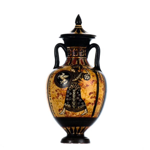Ancient Greek Panathenaic Amphora Goddess Athena Museum Copy Pottery Vase Ceramic