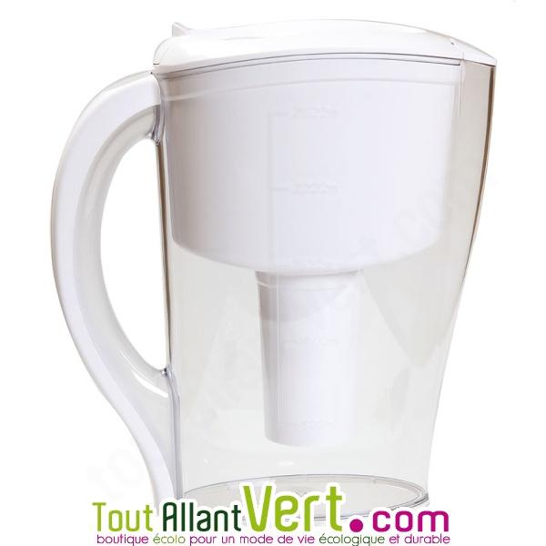 carafe a eau filtrante a cartouche rechargeable