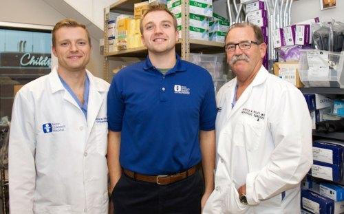 Dr. Patrick Riley Jr., Will and Dr. Patrick Riley Sr.