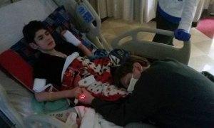 Brady Eikleberry in hospital