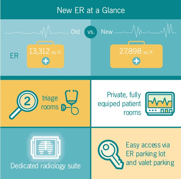 ER at a glance infographic