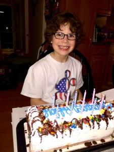 Gabriel celebrating 10th birthday
